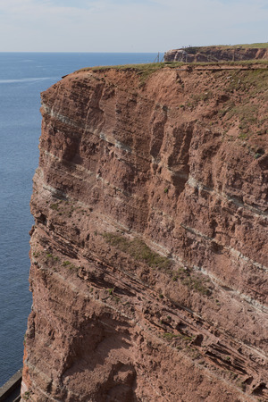 boobies: red cliffs on Iceland Helgoland Germany
