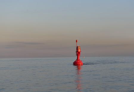 buoy: Orange buoy