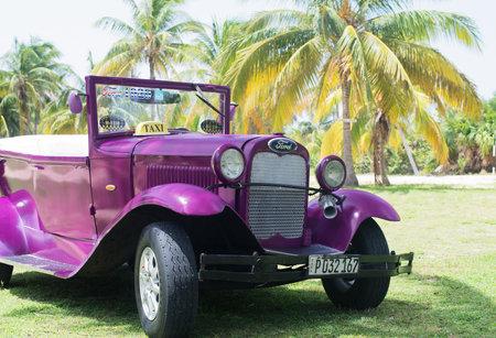 varadero: classic car on the streets of Varadero