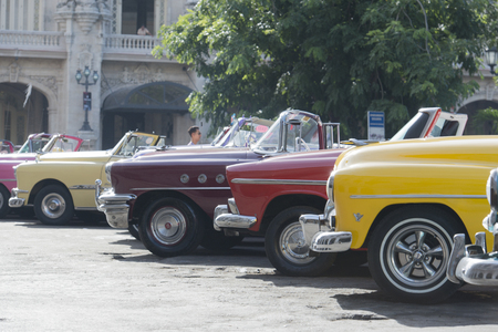 havana cuba: Vintage car in Havana, Cuba Editorial