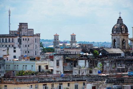 streetlife: Havana old buildings Editorial