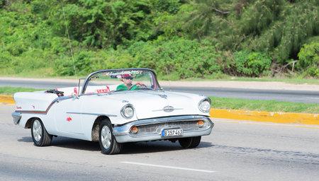 varadero: classic car on the streets of Havana