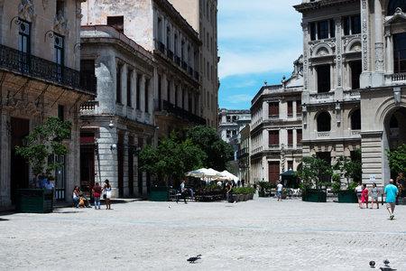 old  buildings: Old buildings in Havana Cuba