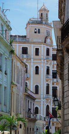streetlife: Cuba Havana street with old buildings