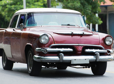 varadero: American Classic car on street in Havana Cuba Stock Photo