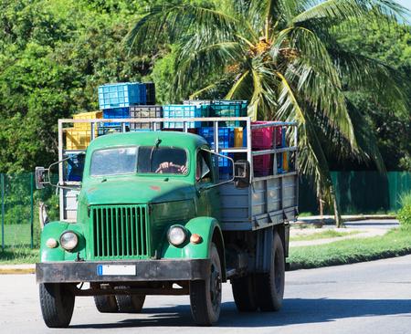 varadero: Truck in Varadero Cuba Stock Photo