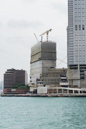 Hong Kong building is being rebuilt