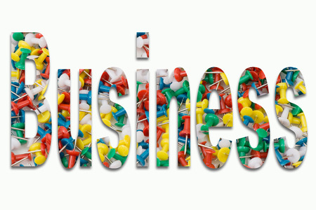 Business Pepin in the text incorporated on white background