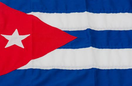 bandera cuba: bandera de Cuba es fotografiado en el primer plano Foto de archivo