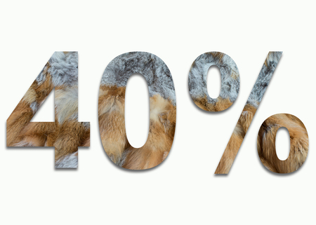 fox fur: 40% red fox fur in a font trained