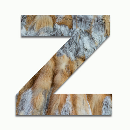 luxuriously: Z red fox fur in a font trained