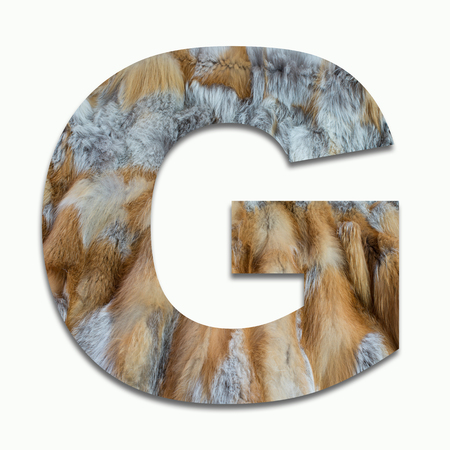 luxuriously: G red fox fur in a font trained