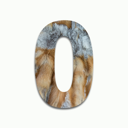 0 red fox fur in a font trained Stock Photo