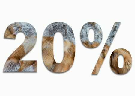 luxuriously: 20% red fox fur in a font trained