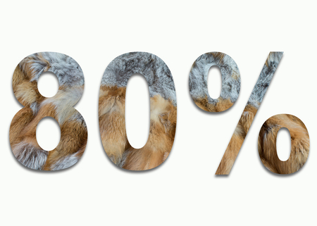 luxuriously: 80% red fox fur in a font trained