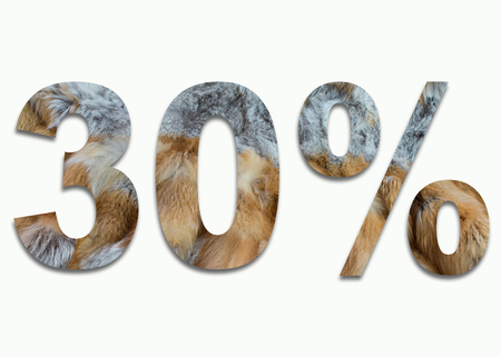 30% red fox fur in a font trained