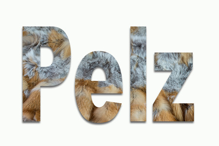luxuriously: red fox fur in a font trained