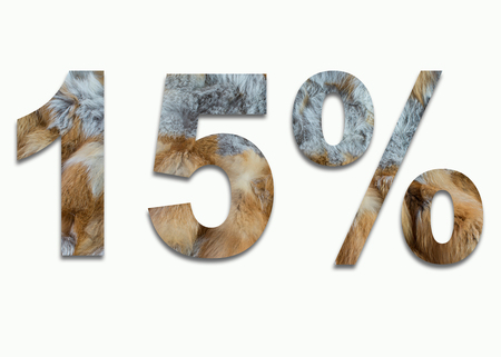 15% red fox fur in a font trained
