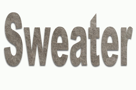 luxuriously: Sweater Angora Wool in a font trained