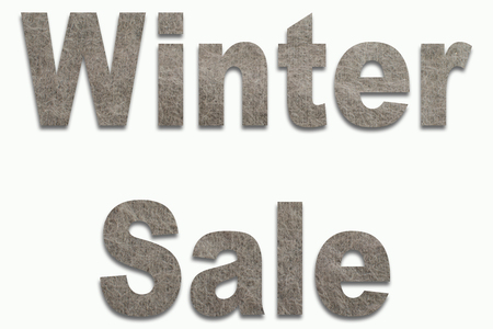 luxuriously: Winter Sale Angora Wool in a font trained
