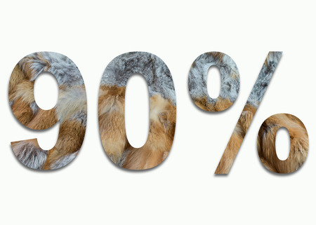luxuriously: 90% red fox fur in a font trained Stock Photo