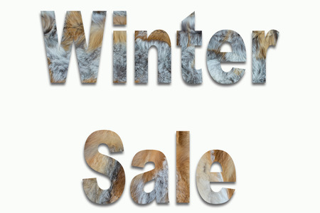 luxuriously: Winter Sale red fox fur in a font trained