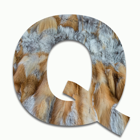 luxuriously: Q red fox fur in a font trained