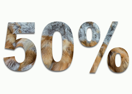 luxuriously: 50% red fox fur in a font trained