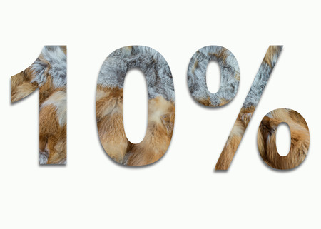 fox fur: 10% red fox fur in a font trained