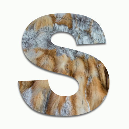 luxuriously: S red fox fur in a font trained Stock Photo