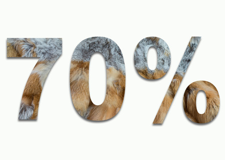 luxuriously: 70% red fox fur in a font trained