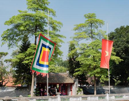 Temple of Literature, the van Mieu, in the center of Hanoai Editorial