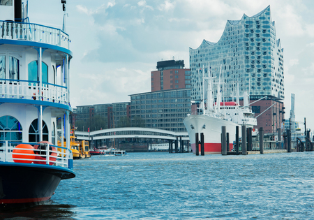 Elbe Philharmonic Hall Completed in Hamburg on the Elbe Stock Photo