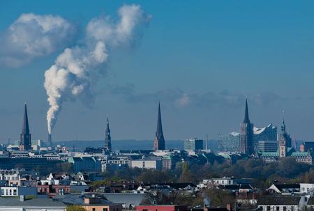 Hamburg Skyline view from an office building Reklamní fotografie