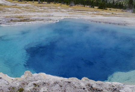 Yellowstone National Park USA and geothermal springs in the United States