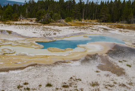 Yellowstone National Park USA and geothermal springs