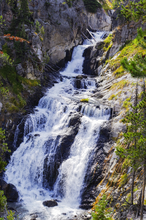 Waterfall from the Yellowstone River at Yellowstone National Park