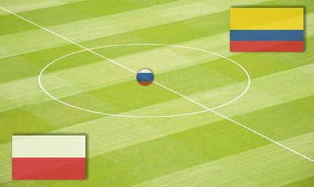 ポーランド対コロンビアのサッカー場