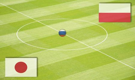 ポーランドとの対戦で日本と対戦するサッカー場