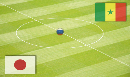 セネガルに対して交尾日本のサッカー場