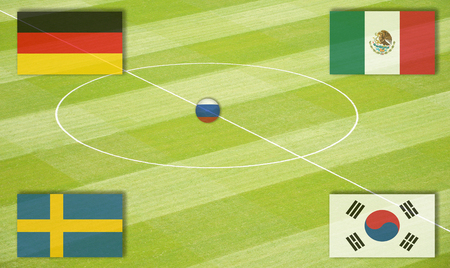WM グループ F のサッカー場 写真素材