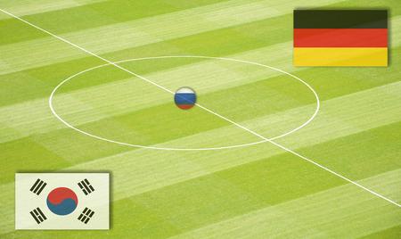 交尾ドイツに対して韓国ワールド カップのサッカー場
