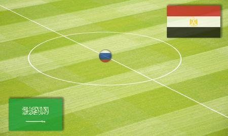 エジプトに対して交尾サウジアラビアのサッカー場