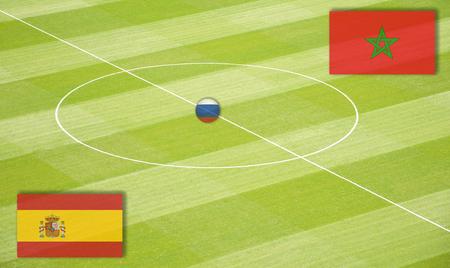 交尾モロッコ戦スペイン ワールド カップのサッカー場