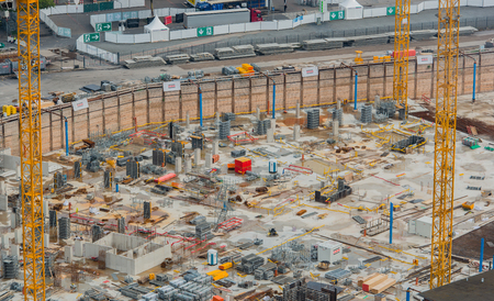 Construction site at cologne train station in cologne 版權商用圖片