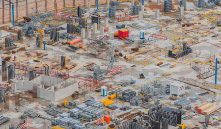 Construction site at cologne train station in cologne 스톡 콘텐츠