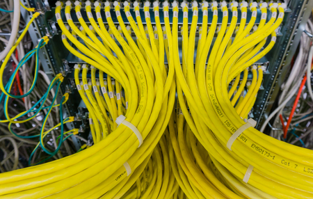Network cable on a network HUB