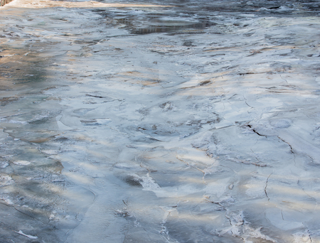 Ice floes in the port of Hamburg