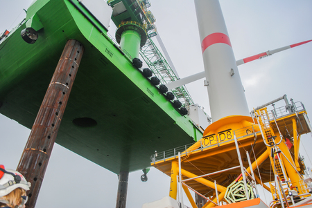Wind park offshore energy construction