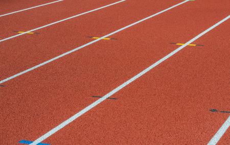 Runway mark on an athletics track Фото со стока - 102847844